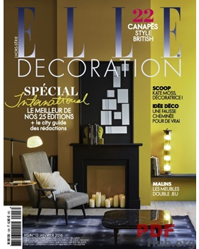 ELLE DECORATION France January 2016
