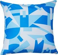 Cushion cover terazzo blue