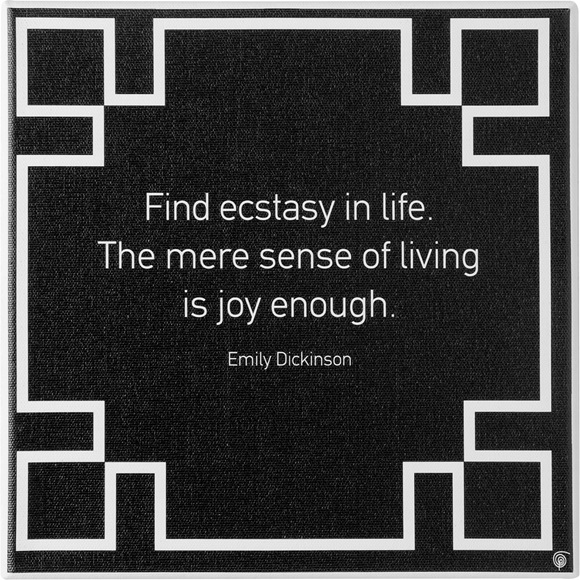 Wall art canvas #ecstasy quote