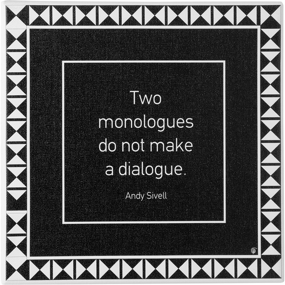 Wall art canvas #dialogue quote