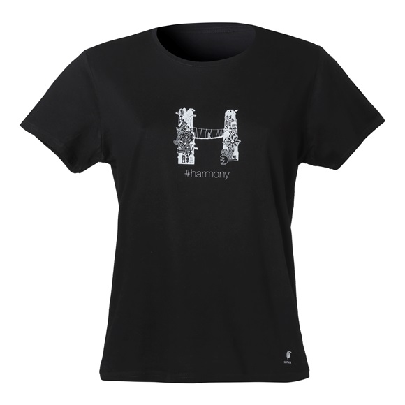 WOMEN T-SHIRT #harmony LARGE/ Slim Fit