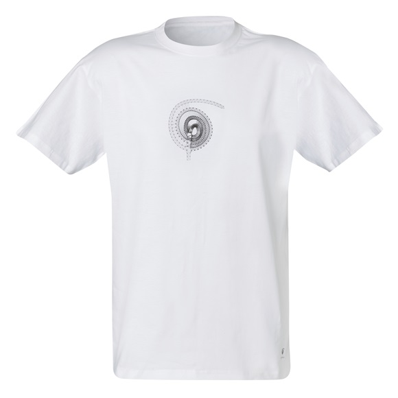 T-SHIRT SPIRAL WHITE LARGE
