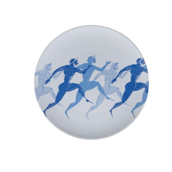 Olympic Runners Dessert Plate Zoomed In