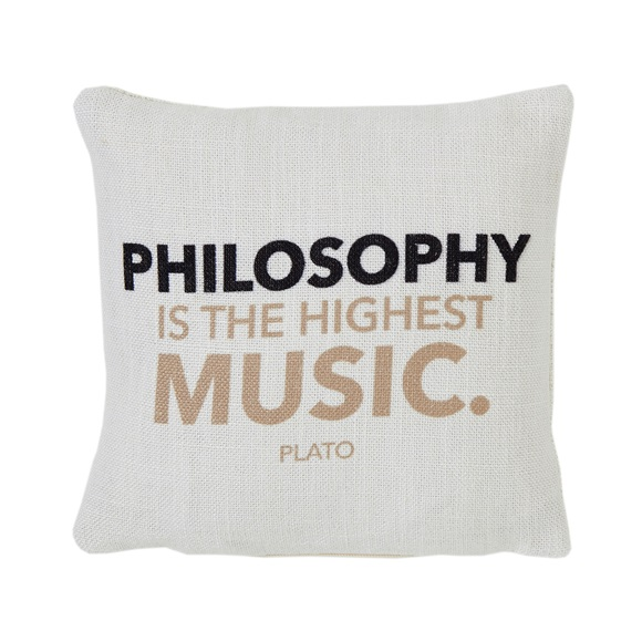Philosophy Mini Cushion in a Gift Box