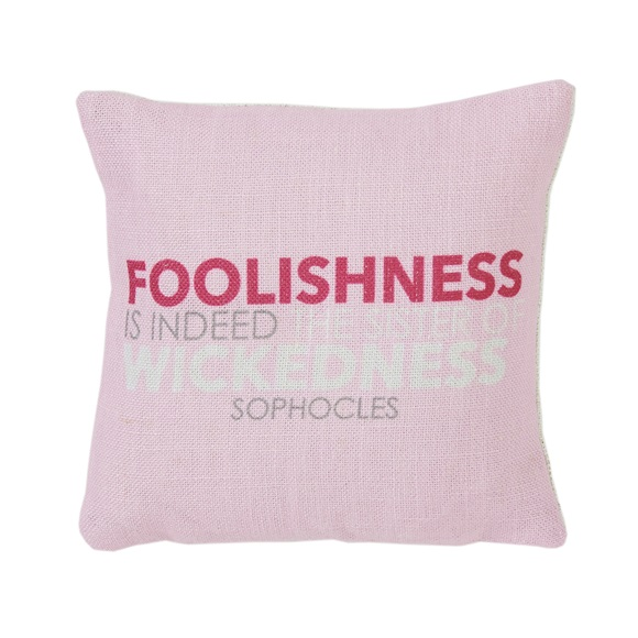 Foolishness Mini Cushion in a Gift Box