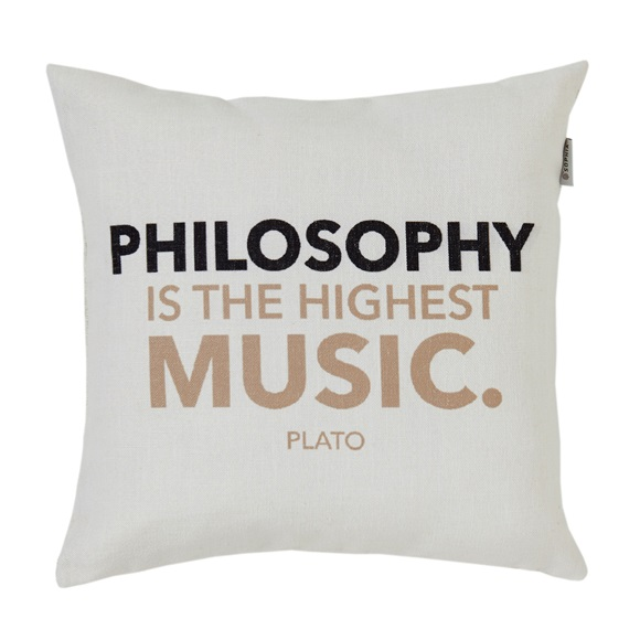 Philosophy Quotes Cushion Cover
