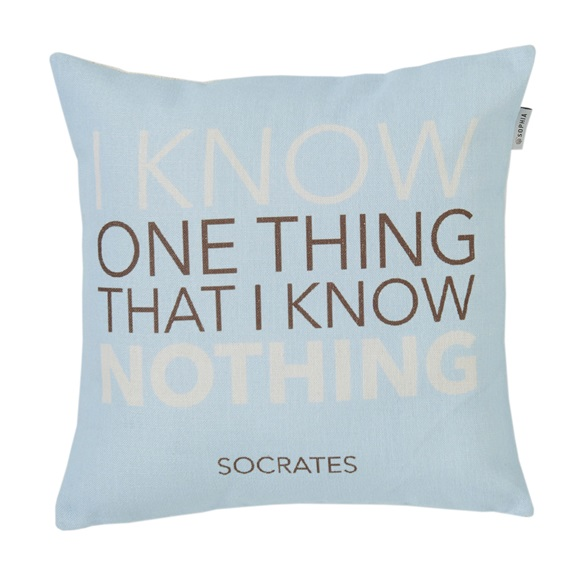 Know  Quotes Cushion Cover