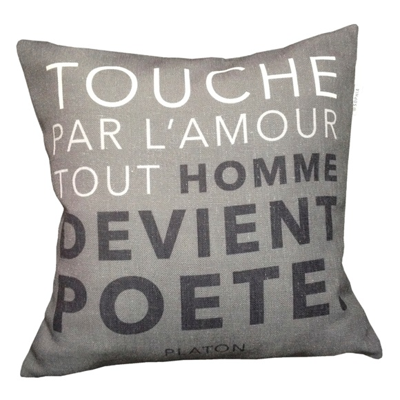 Poete Cushion Cover