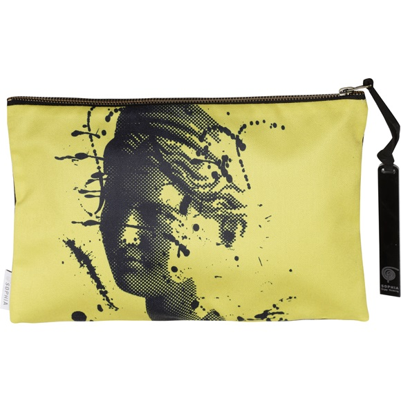 Artemis Splash Yellow Clutch