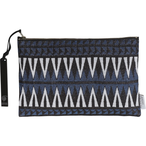 Geometric Jacquard Clutch