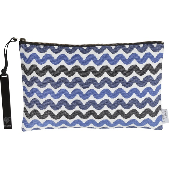 Waves Jacquard Clutch