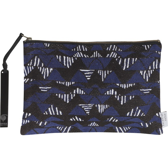 Triangles Jacquard Clutch