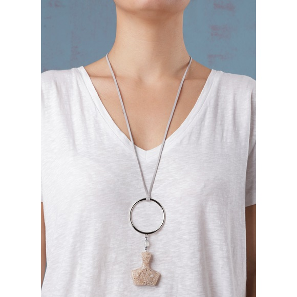 Cycladic Female Ring Beige Necklace