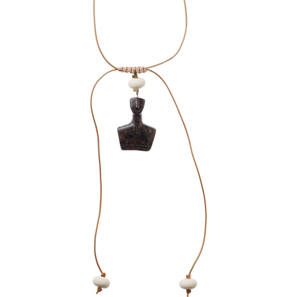 Cycladic Male Choker Brown Necklace