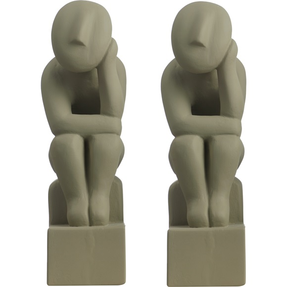 Bookend Thinker set of 2