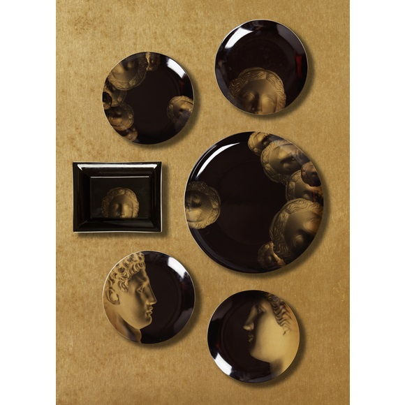 Faces Gold Dessert Plate