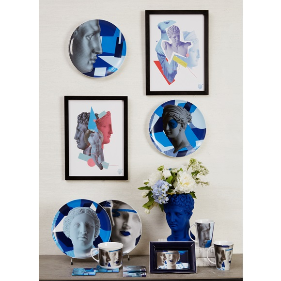 Σουβέρ Artemis Blue set of 2