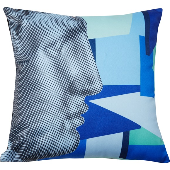 Cushion cover Hermes profile blue