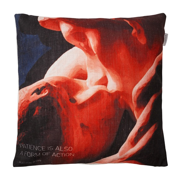 The Kiss Red Cushion Cover
